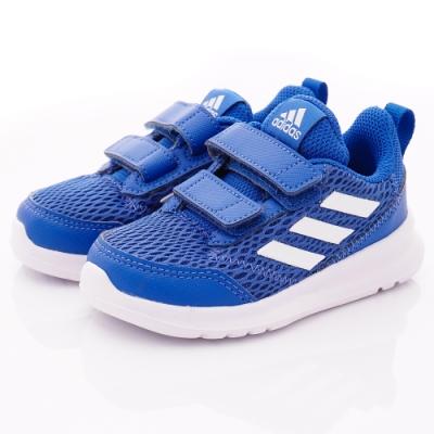 adidas童鞋 AltaRun CF透氣輕量款 SI816藍(小童段)