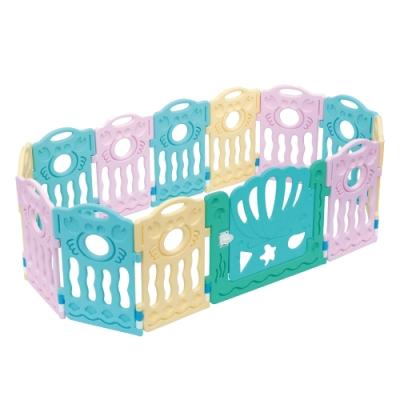 寶貝樂嚴選 螃蟹遊戲圍欄兒童圍欄球池(12片圍欄+門片)