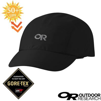 Outdoor Research Seattle Rain Cap GORE-TEX透氣防水透氣棒球帽 UPF 50+.鴨舌帽.跑步帽_黑