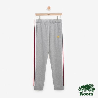 男裝Roots 西岸毛圈布棉質長褲-灰色