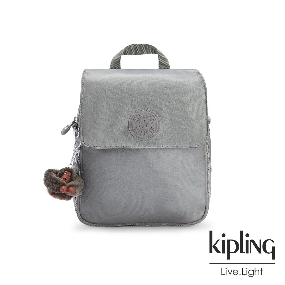Kipling 寧靜月光灰大掀蓋後背包-ANNIC S