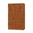 柏蒂家居-卡萊爾4尺三門六抽衣櫃-120x60x204cm