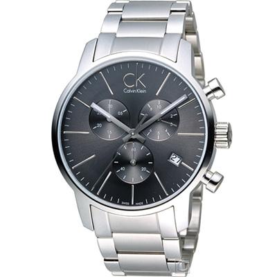 Calvin Klein  city 三眼計時腕錶(K2G27143)深灰/43mm
