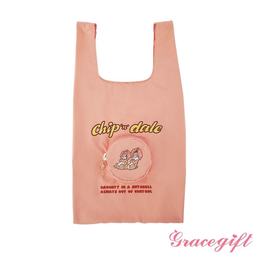 Disney collection by gracegift-奇奇蒂蒂摺疊手提袋 粉