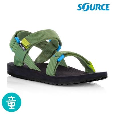 SOURCE Classic kids 兒童運動涼鞋101013B8 / 藍綠色