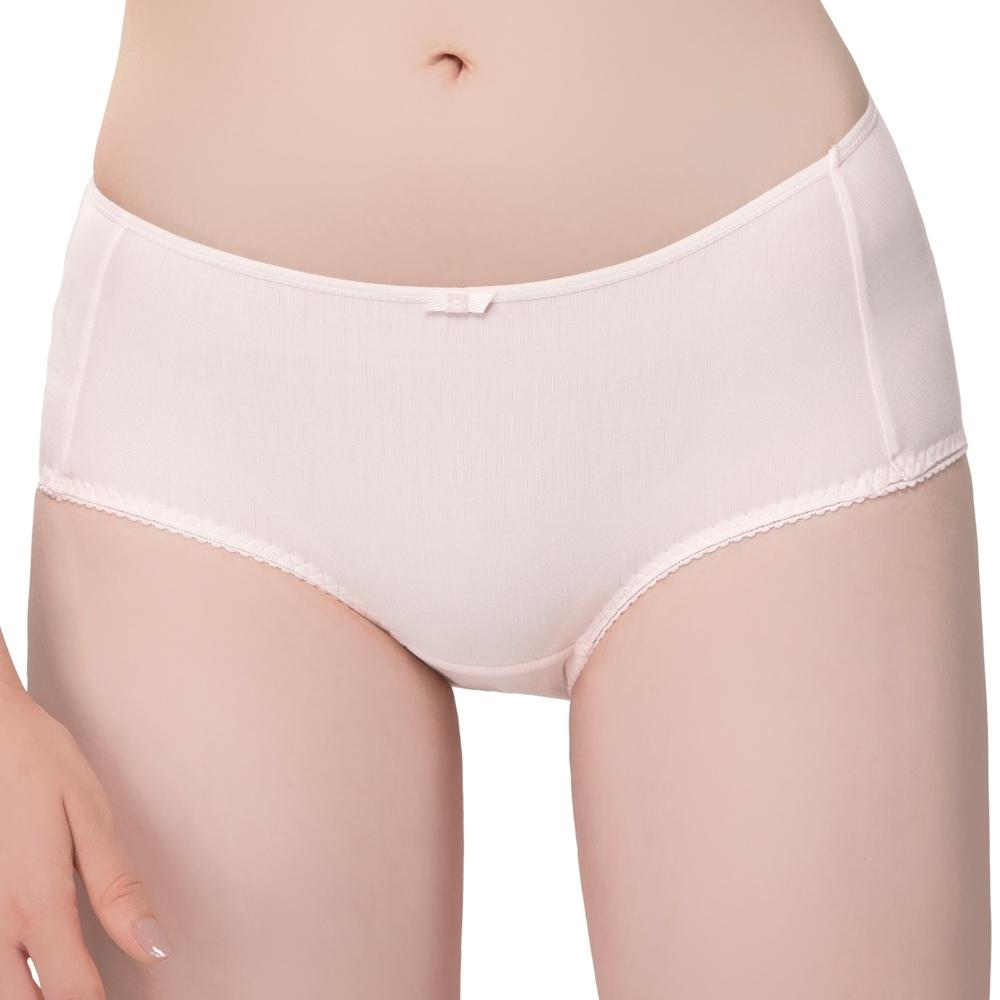思薇爾 棉花糖純真風系列M-XL中低腰平口內褲(星妍粉)