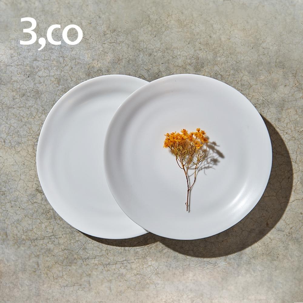 3,co 水波麵包盤(2件式) - 白+白