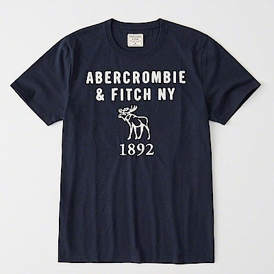 AF a&f Abercrombie & Fitch 短袖 T恤 藍 0948