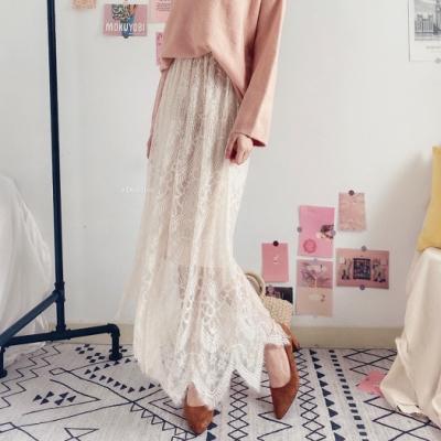 DoMiss溫柔蕾絲長裙(2色)
