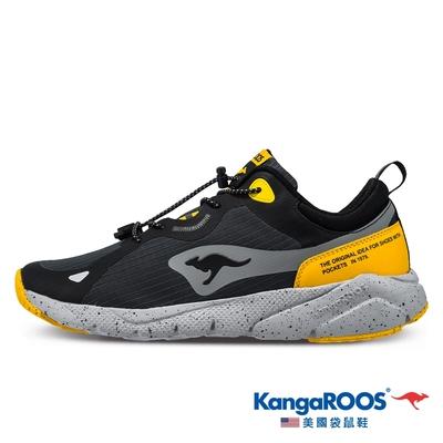 KangaROOS 男 ZEPHYR 防撥水跑鞋(黑-KM11978)