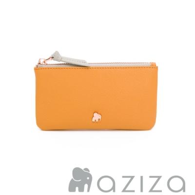 aziza 鑰匙零錢包 -秋杏黃