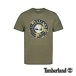 Timberland 男款茶綠色大樹LOGO潮流短袖T恤|A1W5C