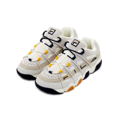 FILA BARRICADEXT 97 中性復古籃球鞋-丈青/黃 4-B007V-394
