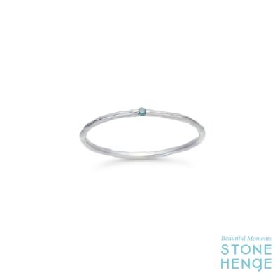 STONEHENGE 斯通亨奇 14K白金藍色鑽石戒指