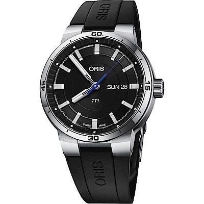 ORIS 豪利時 TT1 日期一級方程式車隊機械錶-黑/42mm