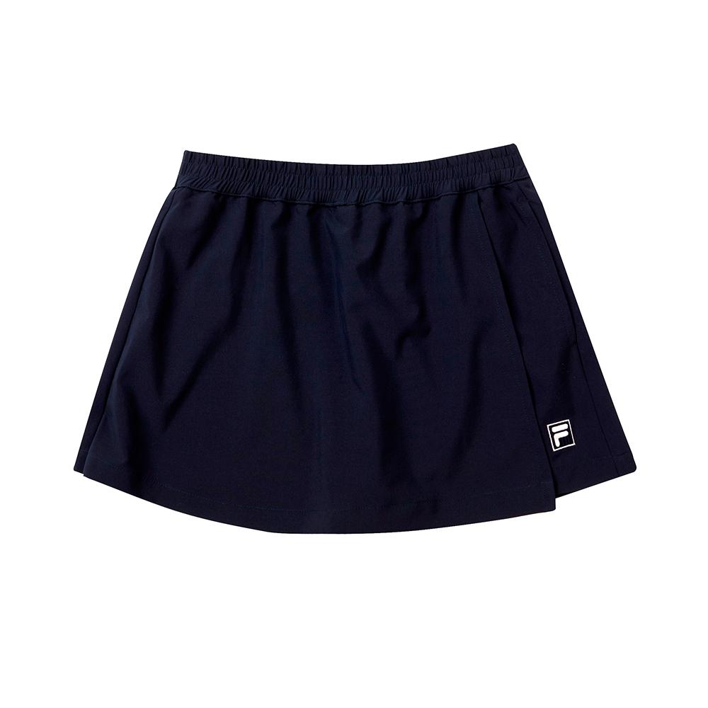 FILA KIDS 彈性褲裙-丈青 5SKT-4323-NV