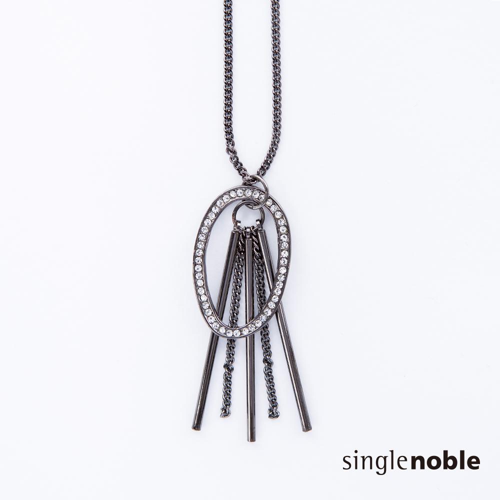 獨身貴族 極致星河鑽飾圓環光束長鍊(2色)