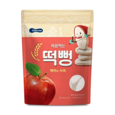 韓國 BEBECOOK 嬰幼兒初食綿綿米餅(蘋果、藍莓)