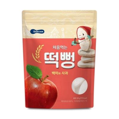 韓國 【BEBECOOK】 嬰幼兒初食綿綿米餅(蘋果)