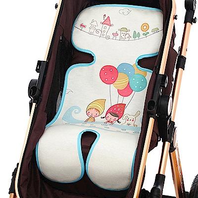 嬰兒推車冰絲涼蓆-嬰兒車涼墊坐墊分段式五點式