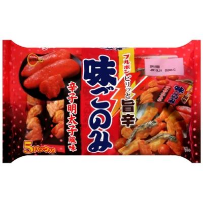 北日本 辣鱈魚卵風味綜合米果-5P(90g)