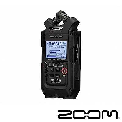 ZOOM H4n Pro 多軌專業手持數位錄音機(黑)-公司貨