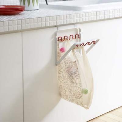 【YAMAZAKI】Nature門板收納袋掛架-紅★垃圾分類/塑膠袋分類/廚房收納