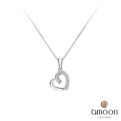 amoon  浪漫艾菲爾系列 悅心 K金鑽石墜子 送項鍊