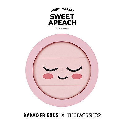 THE FACE SHOP SWEET APEACH 淨透控油柔膚蜜粉