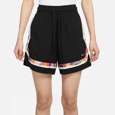 Nike 短褲 Basketball Shorts 運動 女款 膝上 Fly Crossover 乾爽舒適 黑 彩 DJ5222-010