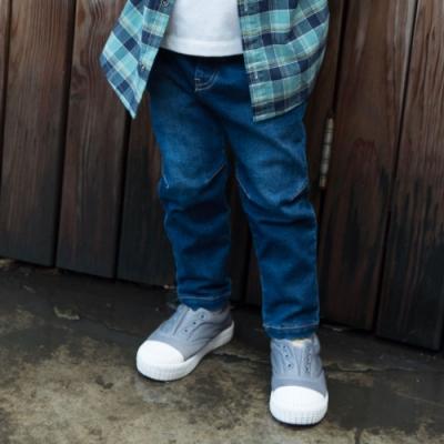 PIPPY刷白彈力牛仔褲-藍色