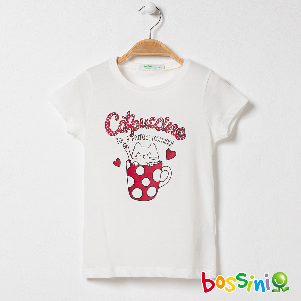 bossini女童-印花短袖T恤09灰白