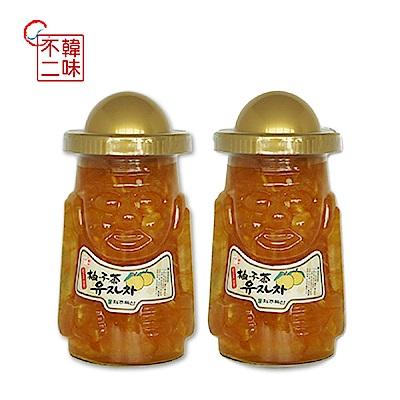 韓味不二 濟州島柚子茶2入(1kg/罐)
