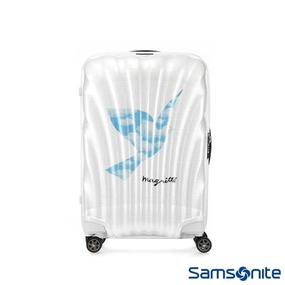 (6/1 10:00 ~6/21 10:00 送超贈點2000) Samsonite新秀麗 x Magritte 25吋C-LITE極輕Curv材質經典貝殼行李箱(SKY BIRD)