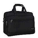 KB6837BK大容量可擴充加厚商務側背包14.1吋黑色