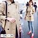 【KISSDIAMOND】德式風時尚修身雙排扣都會風衣外套-KD-006