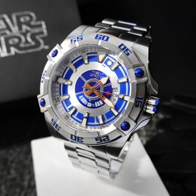 INVICTA 英威塔 Star Wars星際大戰限定版 (R2D2)-不銹鋼-機械錶