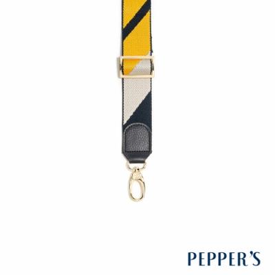 PEPPER S Hope 可調整牛皮編織背帶 - 黃藍白