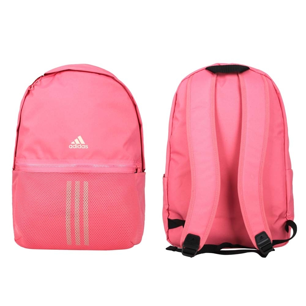 ADIDAS 後背包-雙肩包 肩背包 旅行包 26.5L 愛迪達 GL0917 粉紅米白