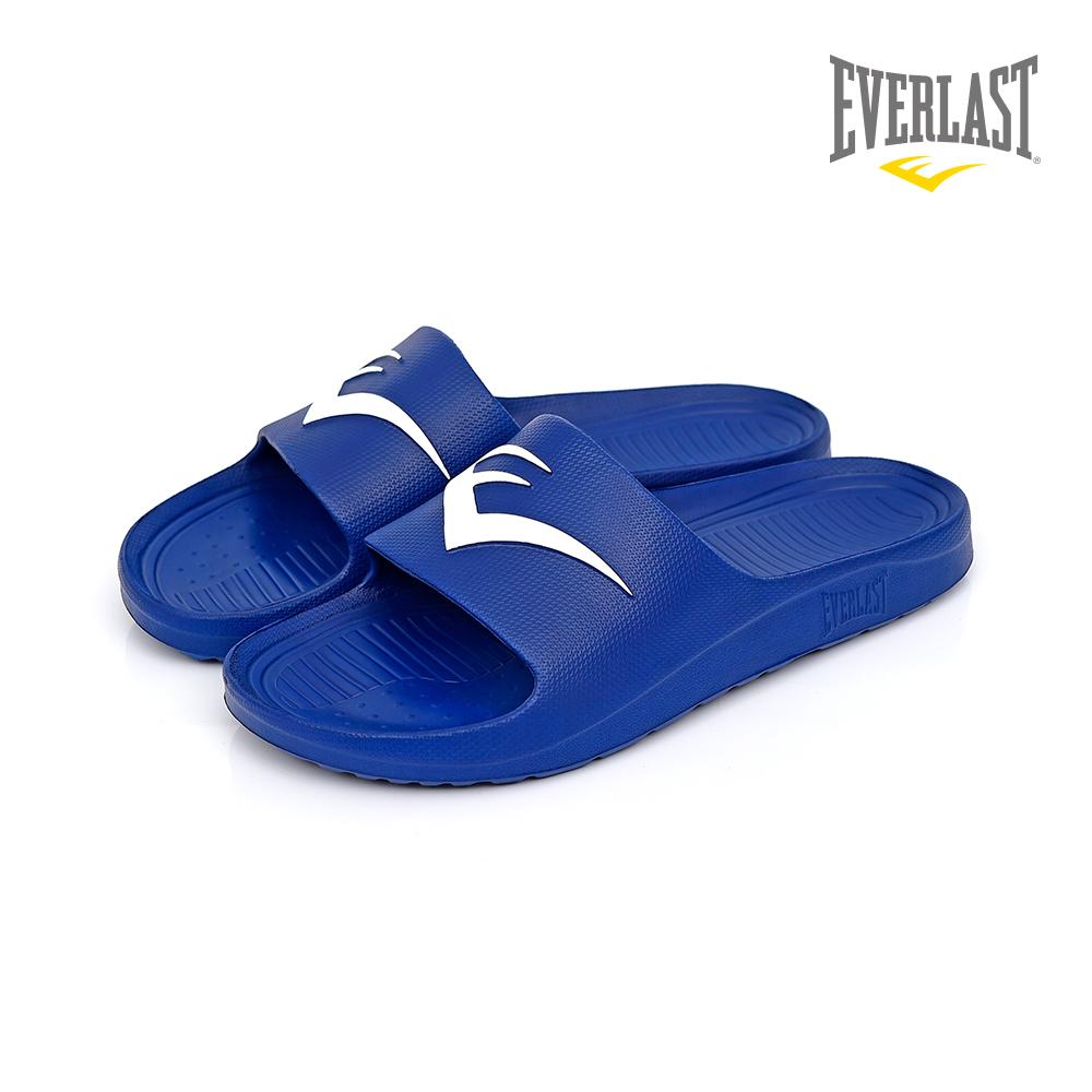 EVERLAST 品牌經典LOGO拖鞋-男-藍