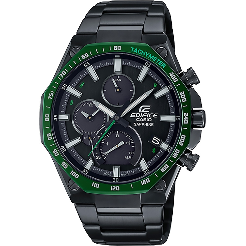CASIO 卡西歐 EDIFICE 旗艦八角設計 藍牙太陽能手錶 EQB-1100XDC-1A