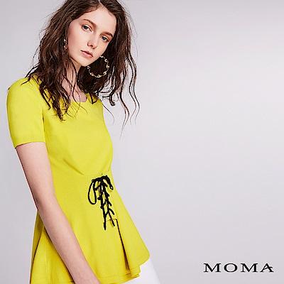 MOMA 腰間綁帶針織上衣