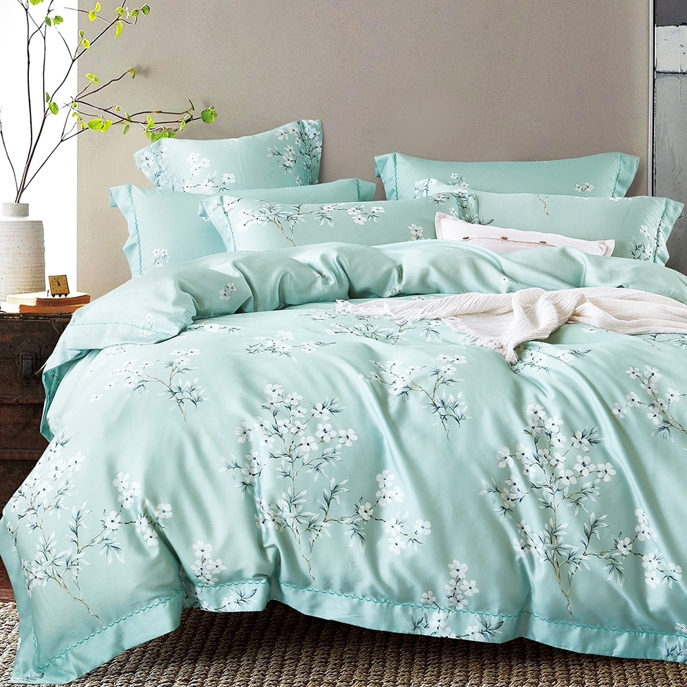 Ania Casa 花語露 天絲 100% TENCEL 雙人鋪棉兩用被套床包四件組