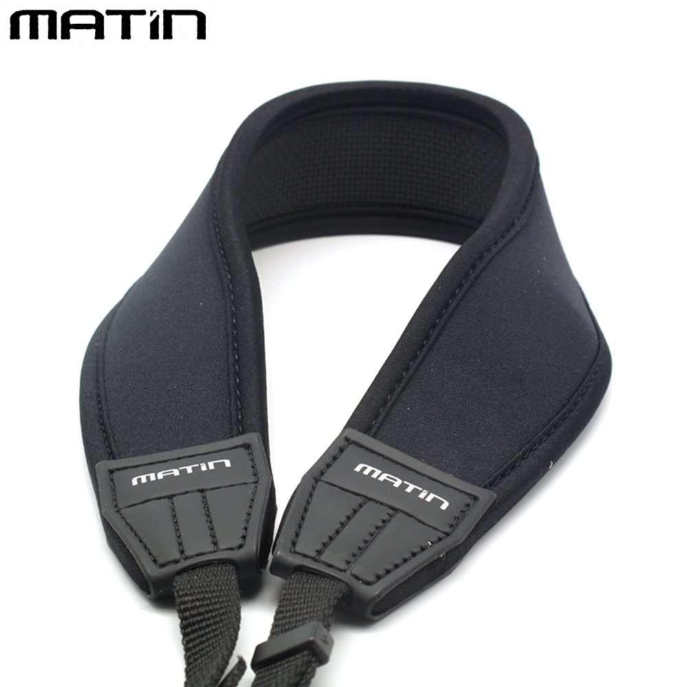 韓國製造Matin防滑彈性DSLR單眼相機減壓背帶相機背帶M-6754(黑色直條型Nikon字)