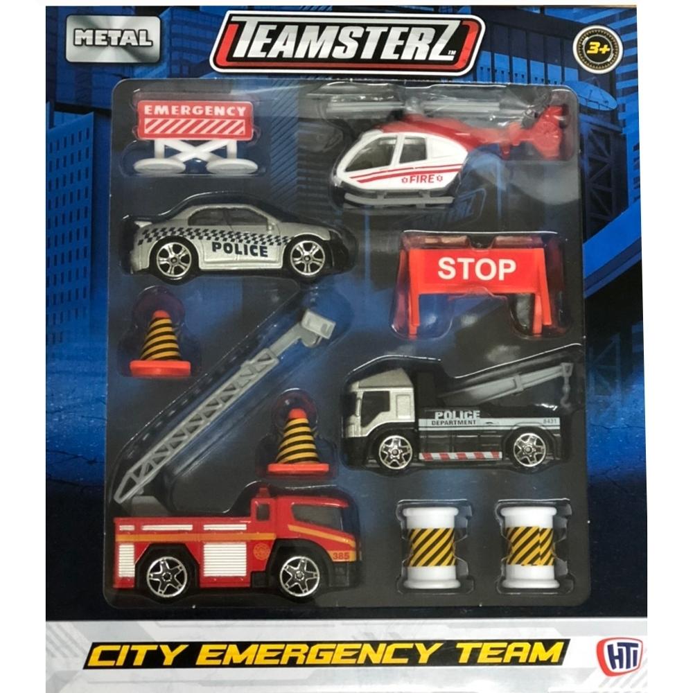 任選英國TEAMSTERZ 緊急救難車組(4入)_HT65741原廠公司貨