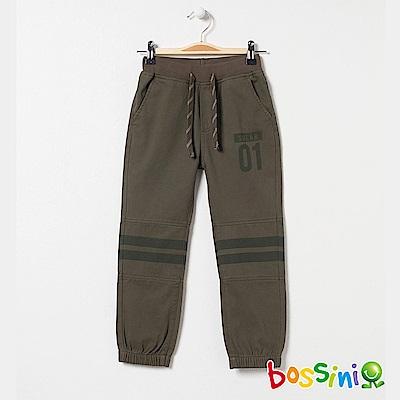 bossini男童-輕鬆束口長褲02軍綠