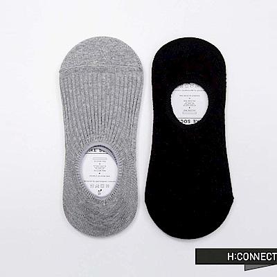 H:CONNECT 韓國品牌 - 純色針織隱形男襪組