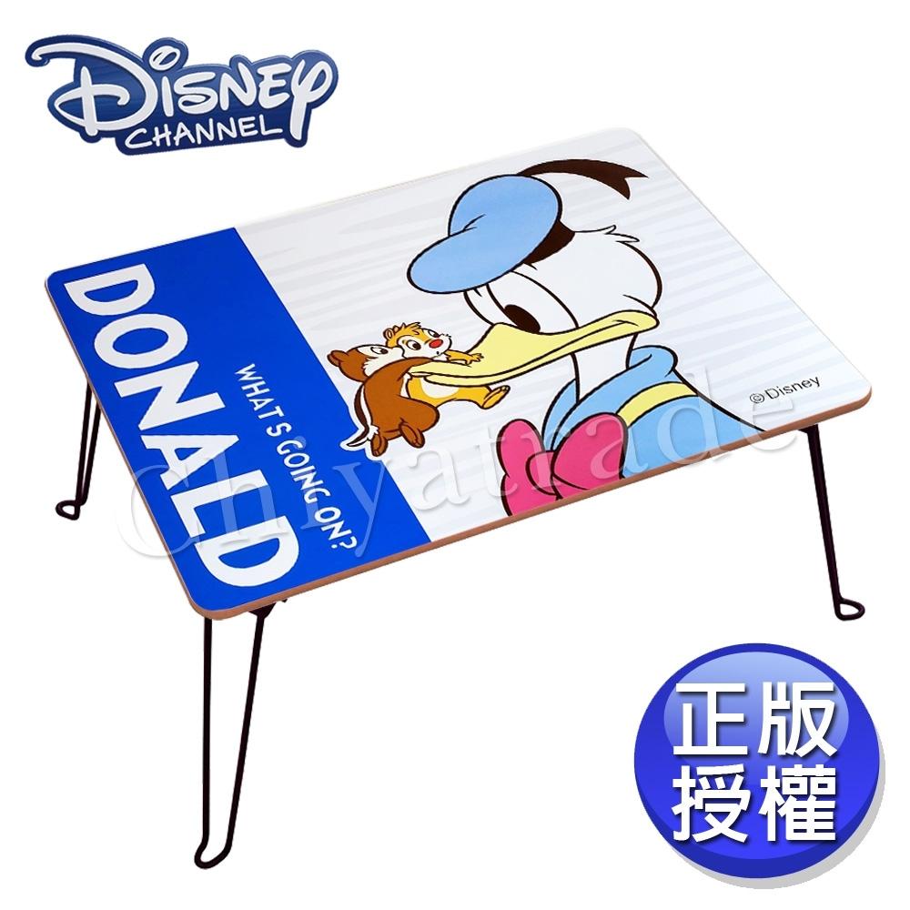 【迪士尼Disney】台灣製 舒壓 唐老鴨&奇蒂 摺疊桌 方桌 和室桌 兒童桌60x48x30cm