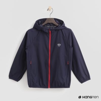 Hang Ten-童裝-ThermoContro-輕薄連帽機能外套-藍