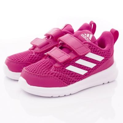 adidas童鞋 AltaRun CF透氣輕量款 SI819桃(小童段)